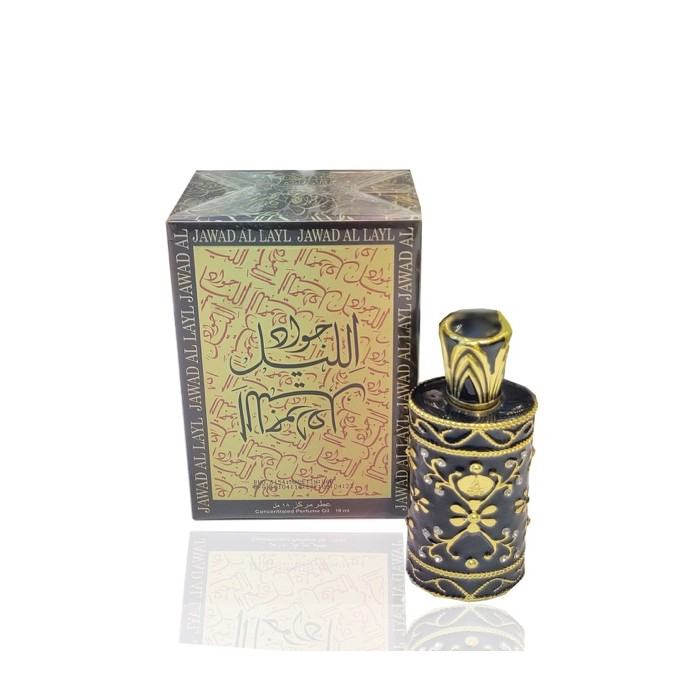 Non Alcoholic Jawad Al Layl Concentrated Perfume Deodorant For Men & Women 15 Ml