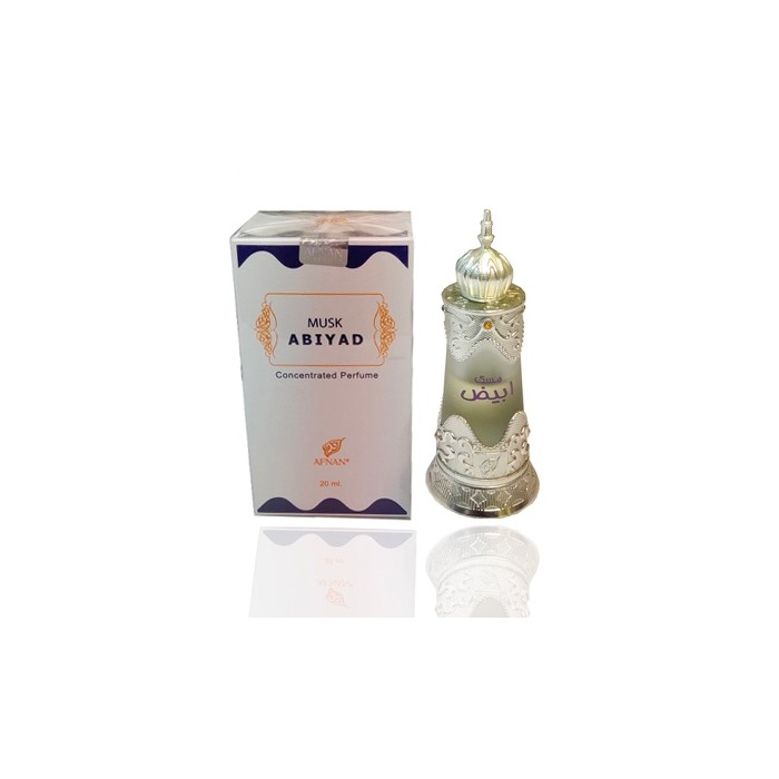 Afnan Non Alcoholic Musk Abiyad Concentrated Perfume  For Men & Women 20Ml